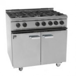 Parry 6 Burner LPG Gas Range Oven