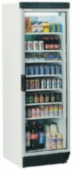 Glass fronted Tefcold tall display cooling unit