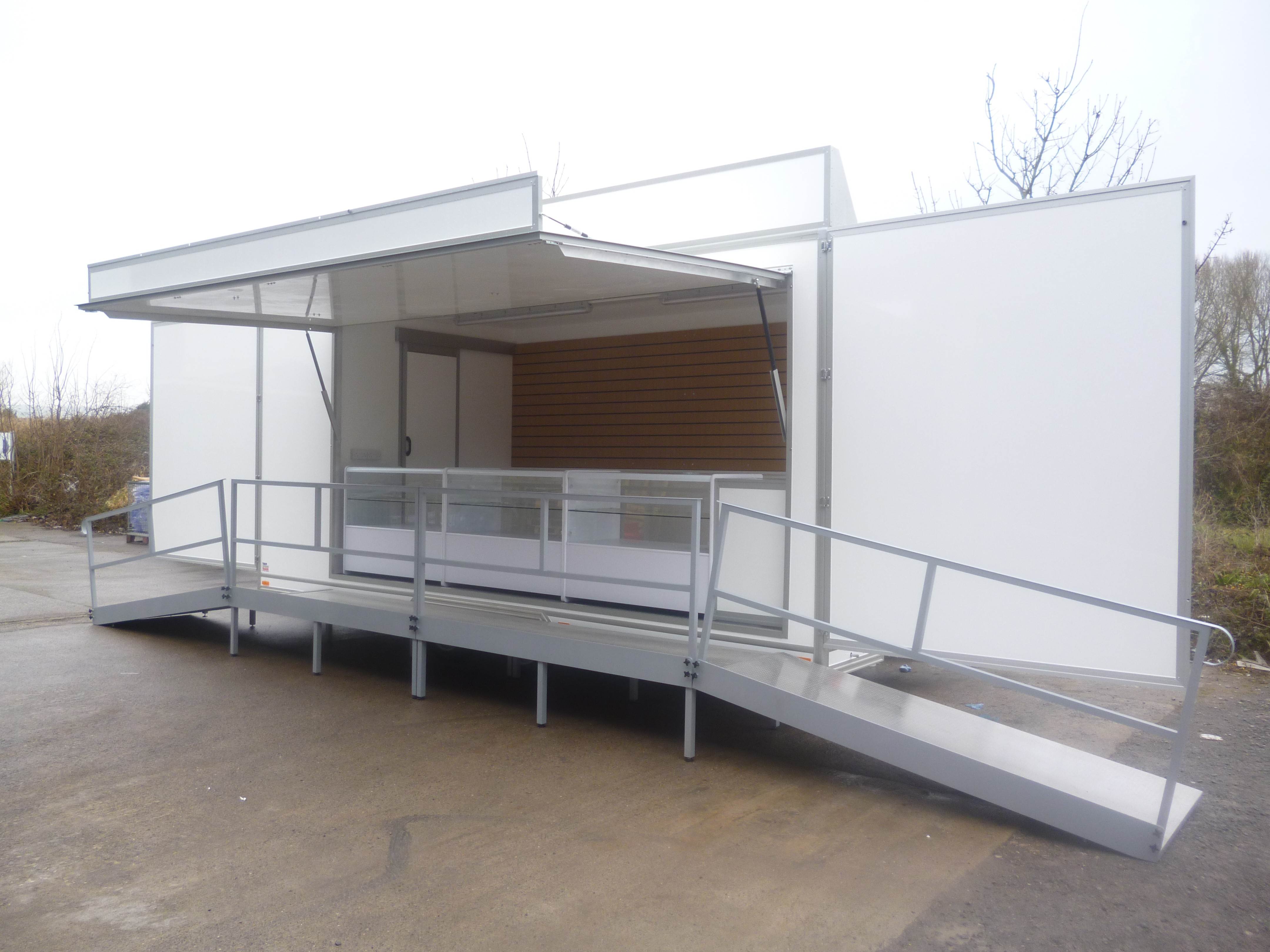 Staff Room Trailer seating area