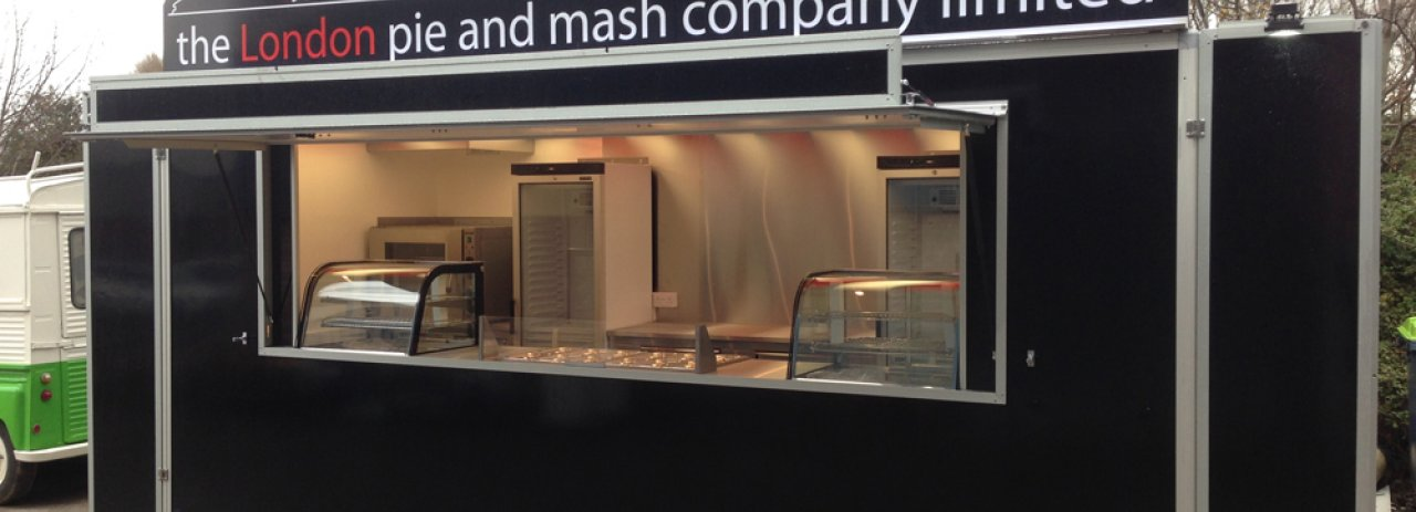 The london pie and mash company food trailer
